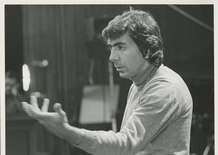 "Gordon Davidson in rehearsal for ""The Trial of the Catonsville Nine"" at the Mark Taper Forum in 1971."