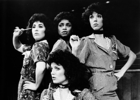 Lucie Arnaz (front) and Helen Castillo, Celia Celnik Matthau, and Debbie Shapiro (back).