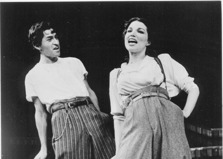 "Mike Gomez and Karen Hensel in world premiere of ""Zoot Suit"" at the Mark Taper Forum in 1978. Written and directed by Luis Valdez and presented in association with El Teatro Campesino, the revival of ""Zoot Suit"" will play January 31 through March 12, 2017, as part of Center Theatre Group/Mark Taper Forum's 2017-2018 season at the Los Angeles Music Center. Tickets for the Mark Taper Forum's 50th anniversary season are currently available by season ticket membership only. For information and to charge season tickets by phone, call the Exclusive Season Ticket Hotline at (213) 972-4444. To purchase season memberships online, visit www.CenterTheatreGroup.org/Taper. Contact: CTGMedia@ctgla.org / (213) 972-7376. Photo by Jay Thompson."