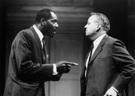 (L-R) Delroy Lindo and Dakin Matthews in 'Julius Caesar.'