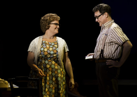 "Mary Callanan and David Hess in the Tony Award-winning ""The Bridges of Madison County"" The Broadway Musical at the Center Theatre Group/Ahmanson Theatre, December 8, 2015, through January 17, 2016. ""Bridges"" has a book by Marsha Norman, music and lyrics by Jason Robert Brown and is based on the novel by Robert James Waller. Bartlett Sher directs. Tickets are available at CenterTheatreGroup.org or by calling (213) 972-4400.  <br />