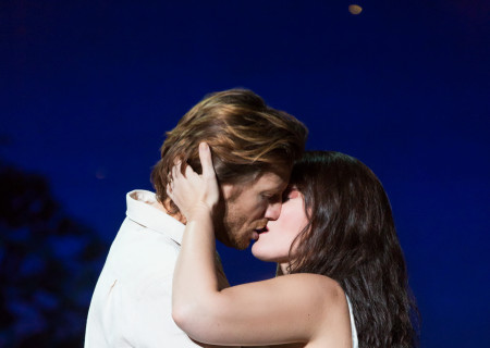 Andrew Samonsky and Elizabeth Stanley in the Tony Award-winning &quot;The Bridges of Madison County&quot; The Broadway Musical at the Center Theatre Group/Ahmanson Theatre, December 8, 2015, through January 17, 2016. &quot;Bridges&quot; has a book by Marsha Norman, music and lyrics by Jason Robert Brown and is based on the novel by Robert James Waller. Bartlett Sher directs. Tickets are available at CenterTheatreGroup.org or by calling (213) 972-4400.  <br />