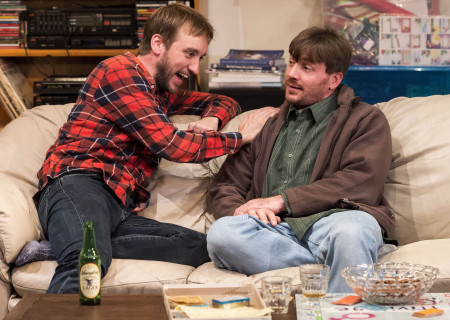 "L-R: Frank Boyd and Brian Slaten in ""Straight White Men,"" written and directed by Young Jean Lee. ""Straight White Men"" makes its West Coast premiere from November 20 through December 20, 2015, at the Kirk Douglas Theatre in collaboration with Center for the Art of Performance at UCLA. For tickets and information, please visit CenterTheatreGroup.org or call (213) 628-2772.<br />