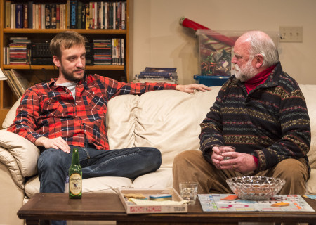 "L-R: Frank Boyd and Richard Riehle in ""Straight White Men,"" written and directed by Young Jean Lee. ""Straight White Men"" makes its West Coast premiere from November 20 through December 20, 2015, at the Kirk Douglas Theatre in collaboration with Center for the Art of Performance at UCLA. For tickets and information, please visit CenterTheatreGroup.org or call (213) 628-2772.<br />