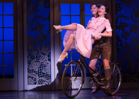"Dan Tracy, who plays Rolf, and Paige Silvester, who plays Liesl, in the national tour of Rodgers &amp; Hammerstein's ""The Sound of Music,"" directed by Jack O'Brien, now playing at the Center Theatre Group/Ahmanson Theatre through October 31, 2015. Tickets are available at CenterTheatreGroup.org or by calling (213) 972-4400.	<br />