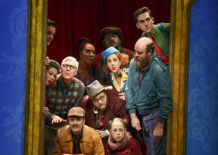"The company of ""Amélie, A New Musical"" at Center Theatre Group/Ahmanson Theatre. ""Amélie, A New Musical"" plays through January 15, 2017. For tickets and information, please visit CenterTheatreGroup.org or call (213) 972-4400. Contact: CTG Publicity/ (213) 972-7376/CTGMedia@ctgla.org. Photo by Joan Marcus."