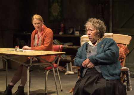 "L-R: Aisling O'Sullivan and Marie Mullen in the Druid production of ""The Beauty Queen of Leenane"" by Martin McDonagh. Directed by Garry Hynes, the production runs through December 18, 2016, at Center Theatre Group/Mark Taper Forum. For tickets and information, please visit CenterTheatreGroup.org or call (213) 628-2772. Contact: CTG Publicity (213) 972-7376 / CTGMedia@ctgla.org. Photo by Craig Schwartz."