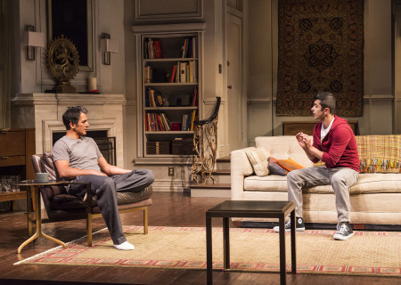 "L-R: Hari Dhillon and Behzad Dabu in Ayad Akhtar's Pulitzer-winning play ""Disgraced,"" which plays at Center Theatre Group/Mark Taper Forum at the Los Angeles Music Center June 8 through July 17, 2016. For tickets and information, please visit CenterTheatreGroup.org or call (213) 628-2772. Contact:  CTG Media and Communications/ (213) 972-7376/CTGMedia@ctgla.org.<br />