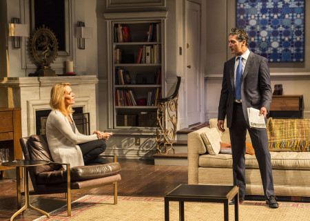 "Emily Swallow and Hari Dhillon in Ayad Akhtar's Pulitzer-winning play ""Disgraced,"" which plays at Center Theatre Group/Mark Taper Forum at the Los Angeles Music Center June 8 through July 17, 2016. For tickets and information, please visit CenterTheatreGroup.org or call (213) 628-2772. Contact:  CTG Media and Communications/ (213) 972-7376/CTGMedia@ctgla.org.<br />
