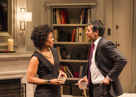 "Karen Pittman and Hari Dhillon in Ayad Akhtar's Pulitzer-winning play ""Disgraced,"" which plays at Center Theatre Group/Mark Taper Forum at the Los Angeles Music Center June 8 through July 17, 2016. For tickets and information, please visit CenterTheatreGroup.org or call (213) 628-2772. Contact:  CTG Media and Communications/ (213) 972-7376/CTGMedia@ctgla.org.<br />