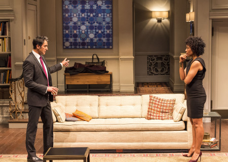 "Hari Dhillon and Karen Pittman in Ayad Akhtar's Pulitzer-winning play ""Disgraced,"" which plays at Center Theatre Group/Mark Taper Forum at the Los Angeles Music Center June 8 through July 17, 2016. For tickets and information, please visit CenterTheatreGroup.org or call (213) 628-2772. Contact:  CTG Media and Communications/ (213) 972-7376/CTGMedia@ctgla.org.<br />