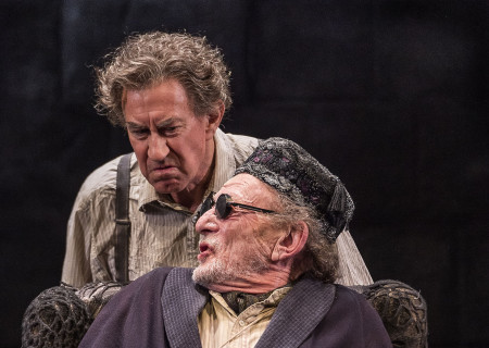 L-R: Barry McGovern and Alan Mandell in &quot;Endgame.&quot; Written by Samuel Beckett and directed by Mandell, &quot;Endgame&quot; plays through May 22, 2016, at Center Theatre Group&#039;s Kirk Douglas Theatre. For tickets and information, please visit CenterTheatreGroup.org or call (213) 628-2772. <br />