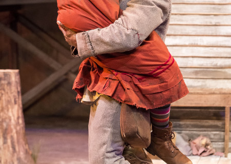 "Sameerah Luqmaan-Harris and Sterling K. Brown in ""Father Comes Home From The Wars (Parts 1, 2 & 3)"" at Center Theatre Group/Mark Taper Forum. Written by Suzan-Lori Parks and directed by Jo Bonney, the West Coast premiere of ""Father Comes Home From The Wars (Parts 1, 2 & 3)"" plays April 5 – May 15, 2016. For tickets and information, please visit CenterTheatreGroup.org or call (213) 628-2772. <br />