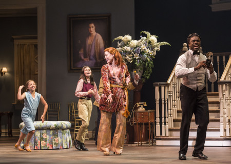 "L-R: Peyton Ella, Katie Silverman, Rachel York and Davon Williams in ""Grey Gardens"" The Musical. Directed by Michael Wilson, ""Grey Gardens"" plays at Center Theatre Group/Ahmanson Theatre through August 14, 2016. The book is by Doug Wright, music by Scott Frankel and lyrics by Michael Korie. ""Grey Gardens"" is based on the film by David Maysles, Albert Maysles, Ellen Hovde, Muffie Meyer and Susan Froemke. For tickets and information, please visit CenterTheatreGroup.org or call (213) 972-4400. Contact: CTGMedia@ctgla.org / (213) 972-7376.<br />