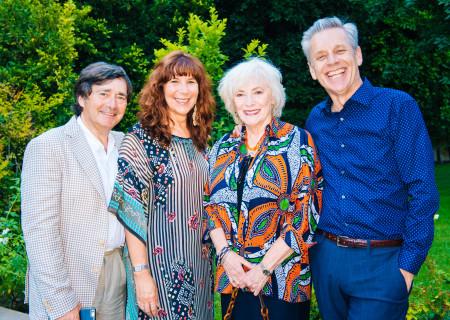 """(L-R) James Goren, Manuela Cerri Goren, Betty Buckley, and Michael Ritchie at the """"Grey Gardens"""" Artist Dinner."""