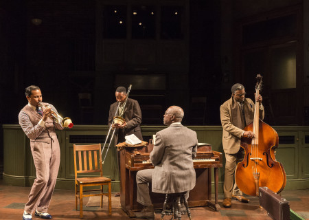 "L-R: Jason Dirden, Damon Gupton, Glynn Turman and Keith David in August Wilson's ""Ma Rainey's Black Bottom,"" directed by Phylicia Rashad, playing through October 16, 2016, at Center Theatre Group/Mark Taper Forum at the Los Angeles Music Center. For tickets and information, please visit CenterTheatreGroup.org or call (213) 628-2772. Contact: CTGMedia@ctgla.org/ (213) 972-7376. Photo by Craig Schwartz."