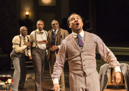 "L-R: Glynn Turman, Damon Gupton, Keith David and Jason Dirden in August Wilson's ""Ma Rainey's Black Bottom,"" directed by Phylicia Rashad, playing through October 16, 2016, at Center Theatre Group/Mark Taper Forum at the Los Angeles Music Center. For tickets and information, please visit CenterTheatreGroup.org or call (213) 628-2772. Contact: CTGMedia@ctgla.org/ (213) 972-7376. Photo by Craig Schwartz."