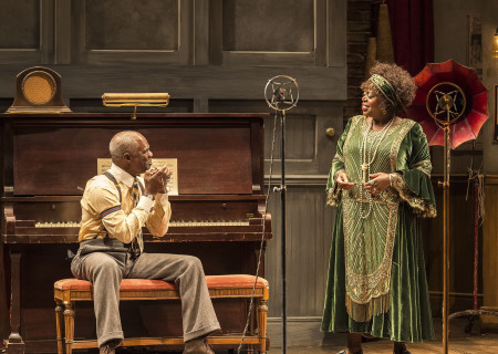 "Glynn Turman and Lillias White in August Wilson's ""Ma Rainey's Black Bottom,"" directed by Phylicia Rashad, playing through October 16, 2016, at Center Theatre Group/Mark Taper Forum at the Los Angeles Music Center. For tickets and information, please visit CenterTheatreGroup.org or call (213) 628-2772. Contact: CTGMedia@ctgla.org/ (213) 972-7376. Photo by Craig Schwartz."
