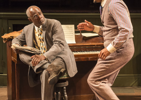 "L-R: Glynn Turman and Jason Dirden in August Wilson's ""Ma Rainey's Black Bottom,"" directed by Phylicia Rashad, playing through October 16, 2016, at Center Theatre Group/Mark Taper Forum at the Los Angeles Music Center. For tickets and information, please visit CenterTheatreGroup.org or call (213) 628-2772. Contact: CTGMedia@ctgla.org/ (213) 972-7376. Photo by Craig Schwartz."