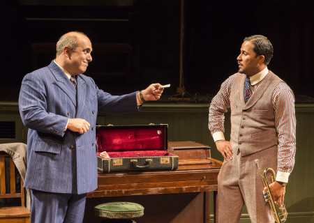 "L-R: Matthew Henerson and Jason Dirden in August Wilson's ""Ma Rainey's Black Bottom,"" directed by Phylicia Rashad, playing through October 16, 2016, at Center Theatre Group/Mark Taper Forum at the Los Angeles Music Center. For tickets and information, please visit CenterTheatreGroup.org or call (213) 628-2772. Contact: CTGMedia@ctgla.org/ (213) 972-7376. Photo by Craig Schwartz."
