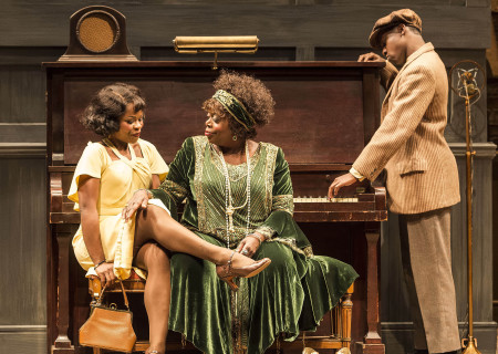 "L-R: Nija Okoro, Lillias White and Lamar Richardson in August Wilson's ""Ma Rainey's Black Bottom,"" directed by Phylicia Rashad, playing through October 16, 2016, at Center Theatre Group/Mark Taper Forum at the Los Angeles Music Center. For tickets and information, please visit CenterTheatreGroup.org or call (213) 628-2772. Contact: CTGMedia@ctgla.org/ (213) 972-7376. Photo by Craig Schwartz."