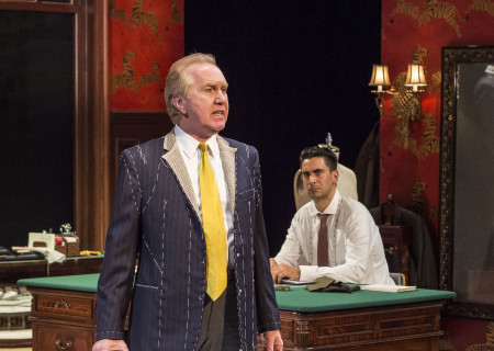 "L-R: Harry Groener and Ramiz Monsef in the world premiere of ""Vicuña"" at Center Theatre Group's Kirk Douglas Theatre. Written by Jon Robin Baitz and directed by Robert Egan, ""Vicuña"" runs through November 20, 2016. For tickets and information, please visit CenterTheatreGroup.org or call (213) 628-2772. Contact: CTGMedia@ctgla.org / (213) 972-7376. Photo by Craig Schwartz."