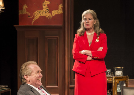 "Harry Groener and Linda Gehringer in the world premiere of ""Vicuña"" at Center Theatre Group's Kirk Douglas Theatre. Written by Jon Robin Baitz and directed by Robert Egan, ""Vicuña"" runs through November 20, 2016. For tickets and information, please visit CenterTheatreGroup.org or call (213) 628-2772. Contact: CTGMedia@ctgla.org / (213) 972-7376. Photo by Craig Schwartz."