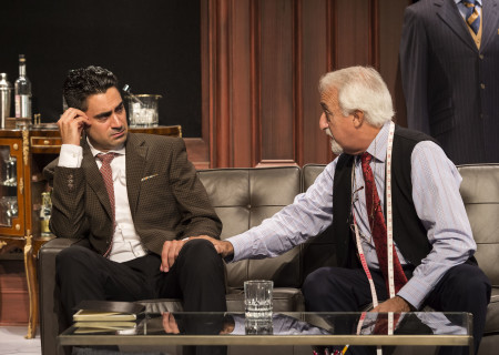 "L-R: Ramiz Monsef and Brian George in the world premiere of ""Vicuña"" at Center Theatre Group's Kirk Douglas Theatre. Written by Jon Robin Baitz and directed by Robert Egan, ""Vicuña"" runs through November 20, 2016. For tickets and information, please visit CenterTheatreGroup.org or call (213) 628-2772. Contact: CTGMedia@ctgla.org / (213) 972-7376. Photo by Craig Schwartz."