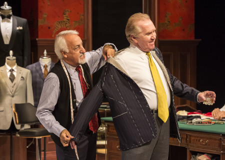 "L-R: Brian George and Harry Groener in the world premiere of ""Vicuña"" at Center Theatre Group's Kirk Douglas Theatre. Written by Jon Robin Baitz and directed by Robert Egan, ""Vicuña"" runs through November 20, 2016. For tickets and information, please visit CenterTheatreGroup.org or call (213) 628-2772. Contact: CTGMedia@ctgla.org / (213) 972-7376. Photo by Craig Schwartz."