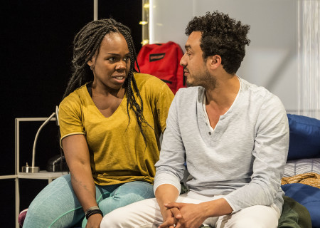 "L-R: Ngozi Anyanwu and Wade Allain-Marcus and the world premiere of ""Good Grief."" Written by Anyanwu and directed by Patricia McGregor, ""Good Grief"" plays at Center Theatre Group's Kirk Douglas Theatre through March 26, 2017. For tickets and information, please visit CenterTheatreGroup.org or call (213) 972-4400. Media Contact: CTGMedia@ctgla.org / (213) 972-7376. Photo by Craig Schwartz."