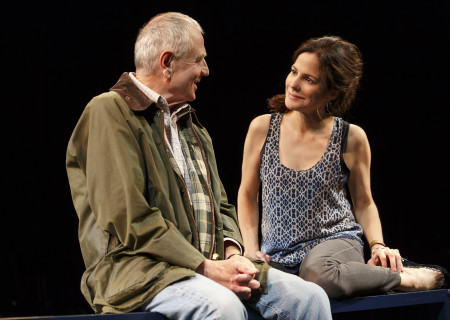 """Denis Arndt and Mary-Louise Parker in the Manhattan Theatre Club production of """"Heisenberg."""" Written by Simon Stephens and directed by Mark Brokaw, """"Heisenberg"""" plays June 28 through August 6, 2017, as part of Center Theatre Group's 50th anniversary season at the Mark Taper Forum. Tickets are currently available by season ticket membership only. For information and to charge season tickets by phone, call the Exclusive Season Ticket Hotline at (213) 972-4444. To purchase season memberships online, visit www.CenterTheatreGroup.org/Taper. Media Contact: CTGMedia@ctgla.org / (213) 972-7376. Photo by Joan Marcus."""