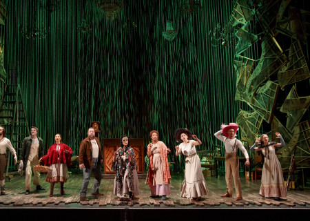 "The cast of the Fiasco Theater production of ""Into the Woods,"" which plays April 4 through May 14, 2017, at Center Theatre Group/Ahmanson Theatre. For tickets and information, please visit CenterTheatreGroup.org or call (213) 972-4400. Media Contact: CTGMedia@CTGLA.org / (213) 972-7376. Photo by Joan Marcus."