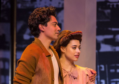 "Matias Ponce and Jeanine Mason in the revival of ""Zoot Suit."" Written and directed by Luis Valdez and presented in association with El Teatro Campesino, ""Zoot Suit"" opens February 12, 2017, (previews began January 31) as part of Center Theatre Group/Mark Taper Forum's 50th anniversary season. For tickets and information, please visit CenterTheatreGroup.org or call (213) 628-2772. Media Contact: CTGMedia@ctgla.org / (213) 972-7376. Photo by Craig Schwartz."