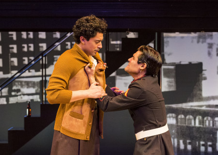 "L-R: Matias Ponce and Andres Ortiz in the revival of ""Zoot Suit."" Written and directed by Luis Valdez and presented in association with El Teatro Campesino, ""Zoot Suit"" opens February 12, 2017, (previews began January 31as part of Center Theatre Group/Mark Taper Forum's 50th anniversary season. For tickets and information, please visit CenterTheatreGroup.org or call (213) 628-2772. Media Contact: CTGMedia@ctgla.org / (213) 972-7376. Photo by Craig Schwartz."