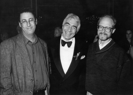 Gordon Davidson, flanked by Pulitzer winning playwrights Tony Kushner (L) and Robert Schenkkan (R). Photo by Craig Schwartz.
