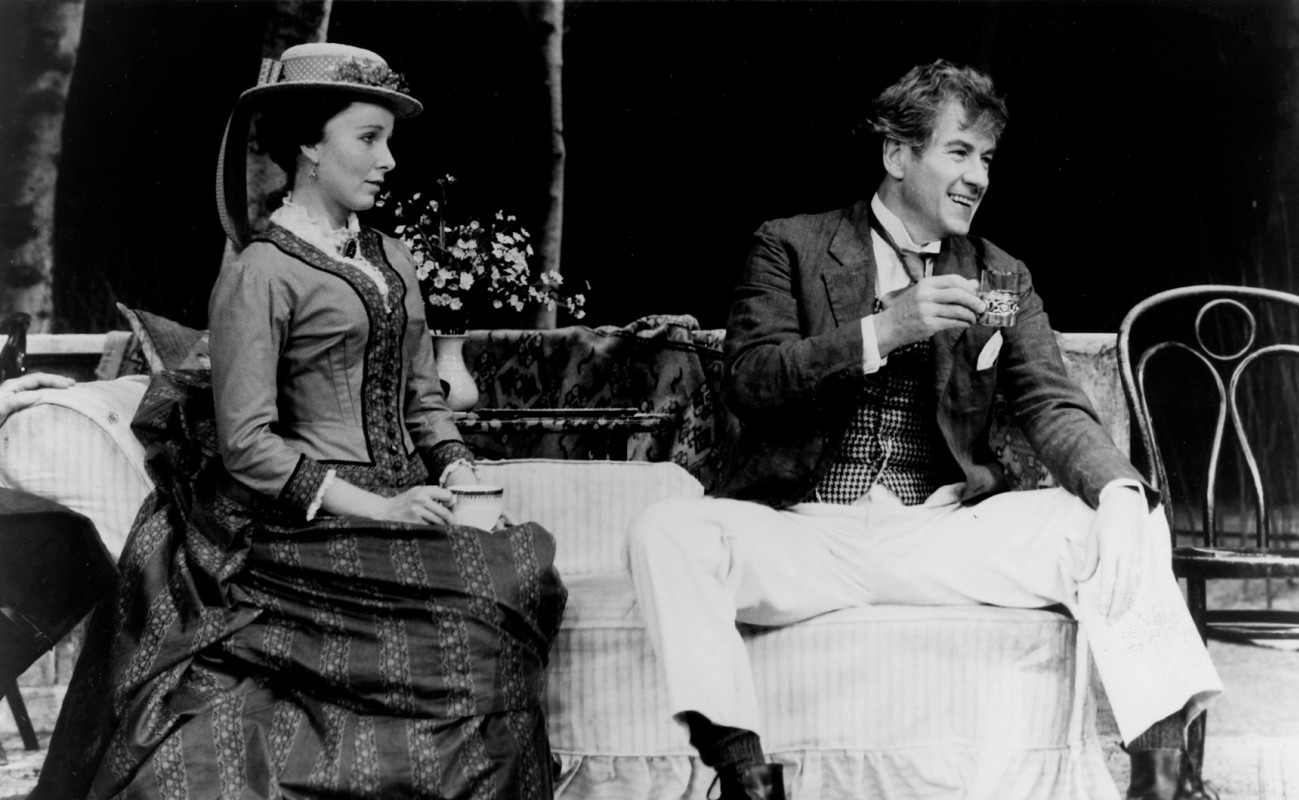 "Kate Burton and Ian McKellen in ""Wild Honey"""