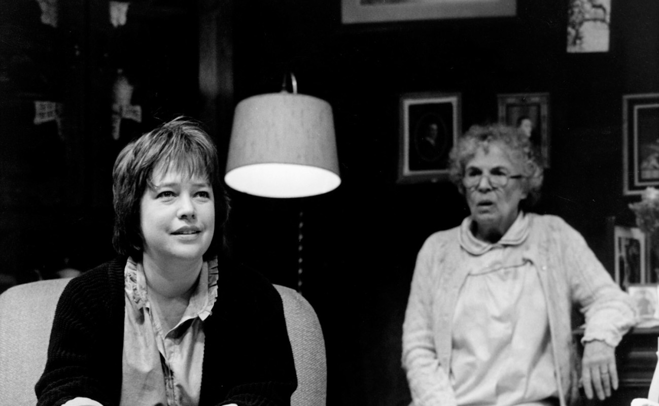 "Kathy Bates and Anne Pitoniak in ""'night, Mother."""
