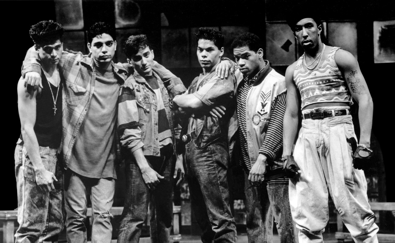 (L–R) Ray Oriel, Michael DeLorenzo, Anthony Barrile, Marcus Chong, Lance Slaughter, and Marvin Columbus in 'Stand-Up Tragedy.'