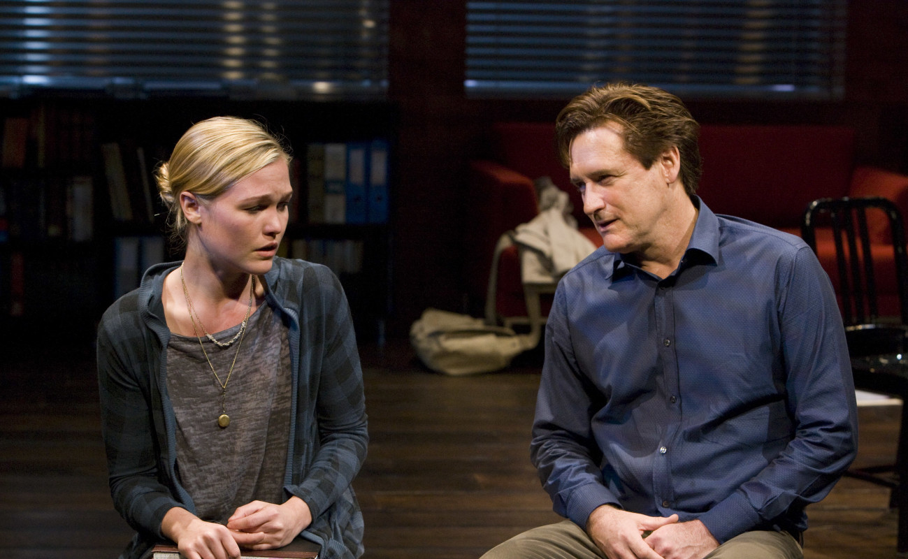 Julia Stiles and Bill Pullman in 'Oleanna.'