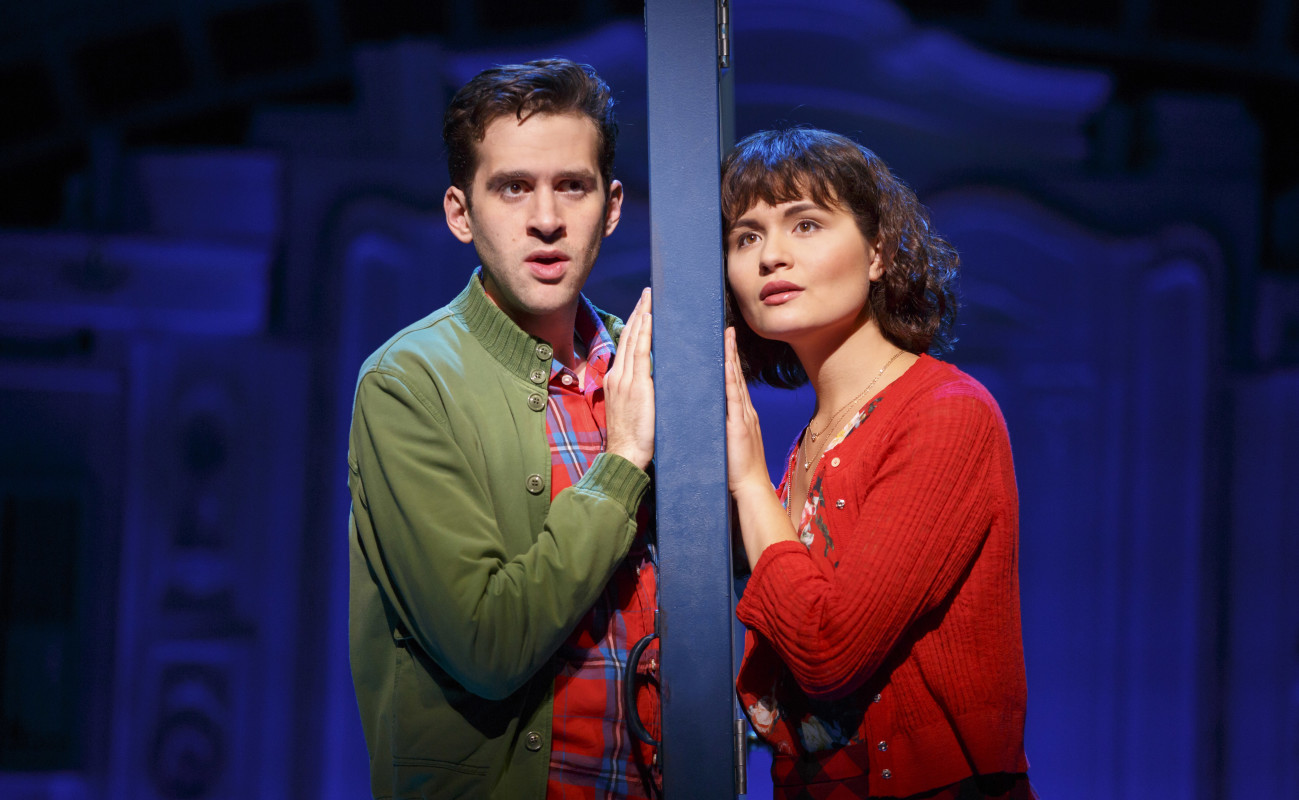 Adam Chanler-Berat and Phillipa Soo in 'Amlie, A New Musical.'