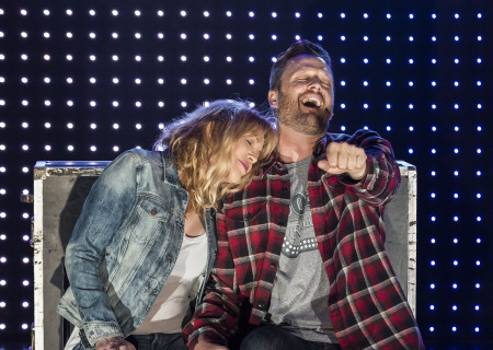 "Courtney Love and Todd Almond in ""Kansas City Choir Boy&quot; at the Center Theatre Group/Kirk Douglas Theatre. With music and lyrics by Almond and directed by Kevin Newbury, ""Kansas City Choir Boy"" is produced by Beth Morrison Projects and is presented as a special DouglasPlus event October 15 through November 8, 2015. For tickets and information, please visit CenterTheatreGroup.org or call (213) 628-2772.<br />