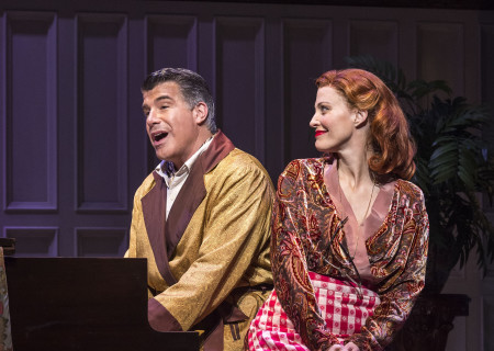 "Bryan Batt and Rachel York in ""Grey Gardens"" The Musical. Directed by Michael Wilson, ""Grey Gardens"" plays at Center Theatre Group/Ahmanson Theatre through August 14, 2016. The book is by Doug Wright, music by Scott Frankel and lyrics by Michael Korie. ""Grey Gardens"" is based on the film by David Maysles, Albert Maysles, Ellen Hovde, Muffie Meyer and Susan Froemke. For tickets and information, please visit CenterTheatreGroup.org or call (213) 972-4400. Contact: CTGMedia@ctgla.org / (213) 972-7376.<br />