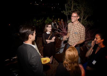 Center Theatre Group interns and staff talk shop.