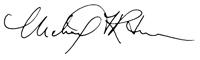 Michael Ritchie Signature