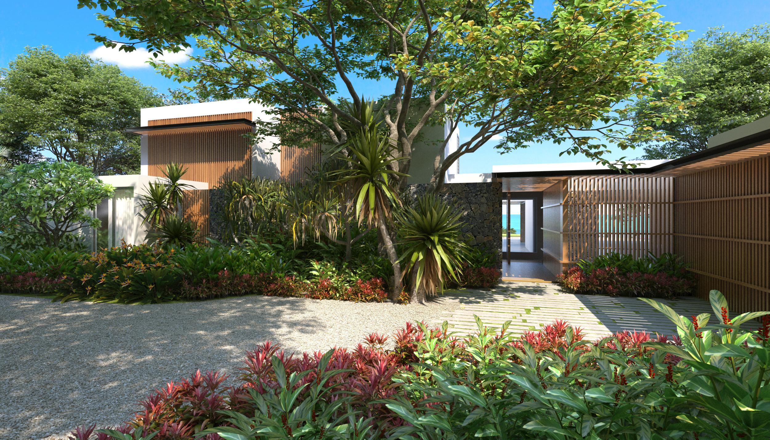 villa premium entrance