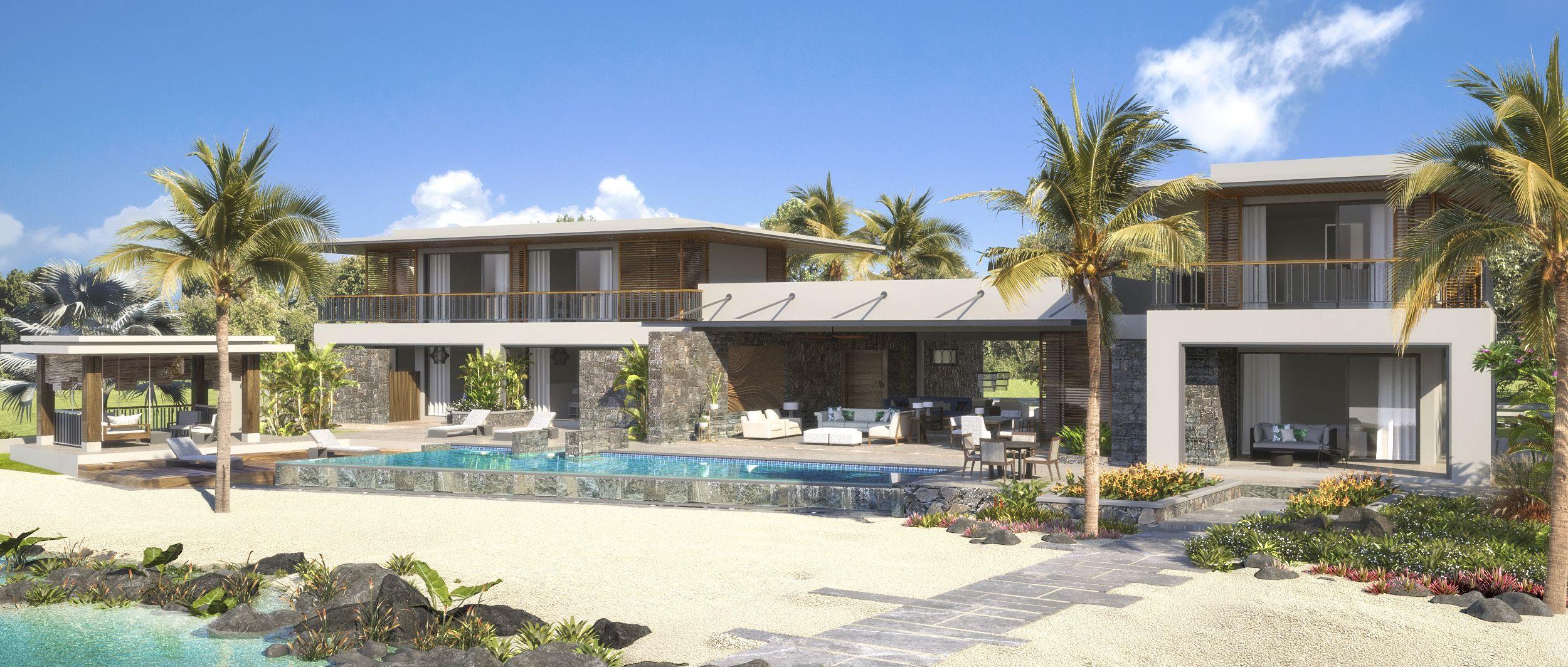 villa premium front view