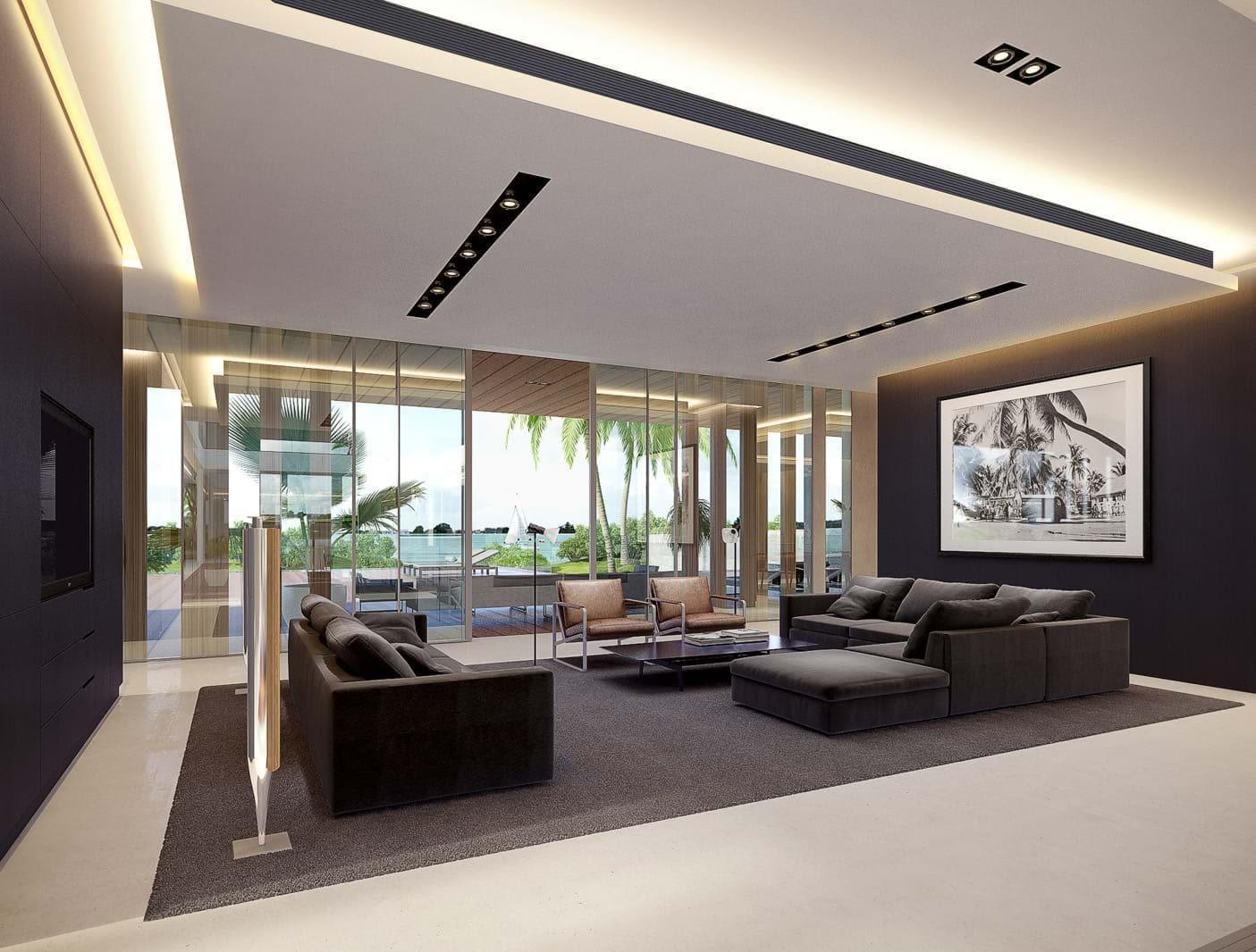 les demeures living room