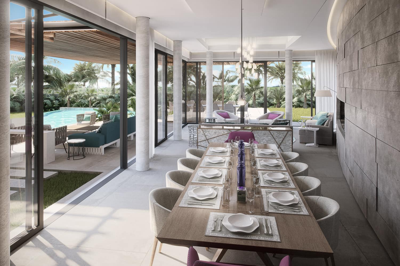 villa pearl living room