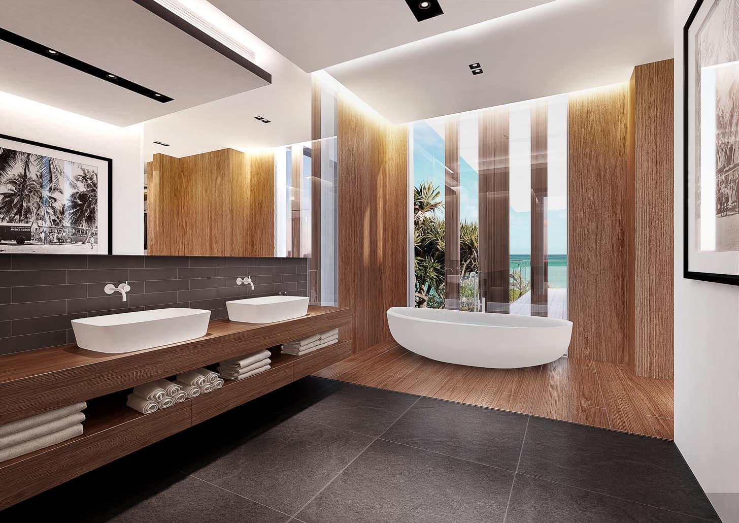 les demeures sale de bain