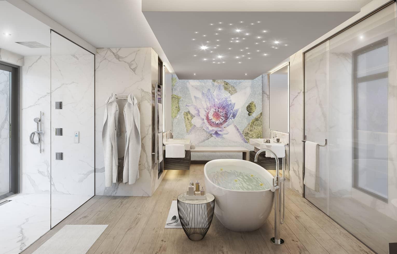 villa pearl salle de bain